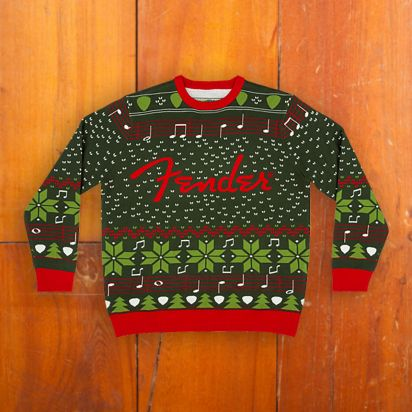 Fender Ugly Christmas Sweater Large