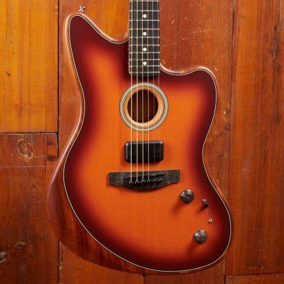 Fender American Acoustasonic Jazzmaster, Tobacco Sunburst