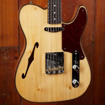 Fender CS LTD Knotty Pine Tele Thinline Rosewood Fingerboard Aged Natural
