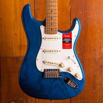 Fender LTD American Pro Strat Ash Sapphire Blue