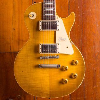 Gibson CS 1958 Les Paul Standard, Green Lemon Lightly Aged