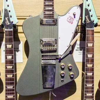 Gibson CS 1963 Firebird V with Maestro, Silver Poly Mist