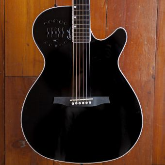 Godin Multiac Steel Black HG Doyle Dykes with Deluxe TRIC case