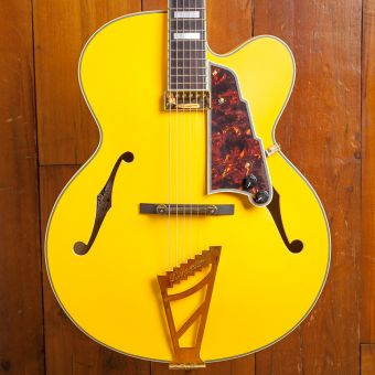 D'Angelico Deluxe EXL-1 Ebony Fingerboard Matte Electric Yellow