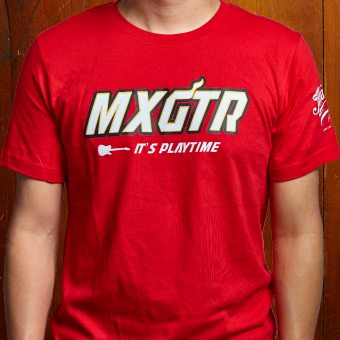 Max Guitar MXGTR T-shirt red small