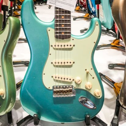 Fender CS Namm Ltd 1959 Strat Journeyman Relic Aged Teal Green Metallic #072