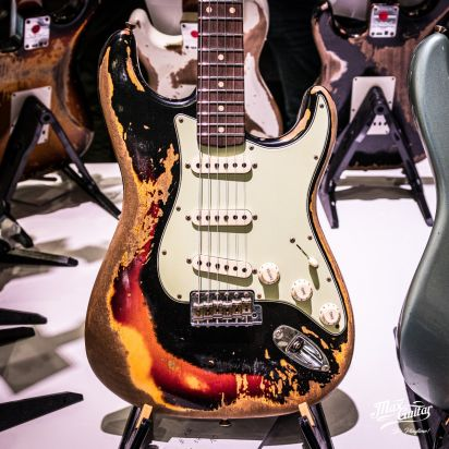 Fender CS 1960/1953 Stratocaster, Aged Black over 3tsb, Super Heavy Relic
