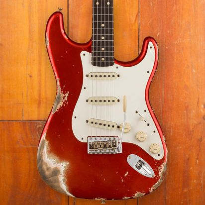 Fender CS 1959 Stratocaster, Heavy Relic, Super Faded Aged Candy Apple Red