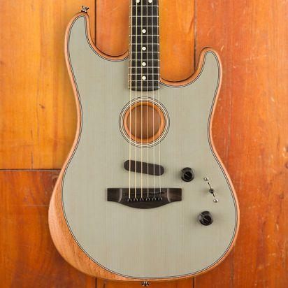 Fender American Acoustasonic Stratocaster Trans Sonic Blue