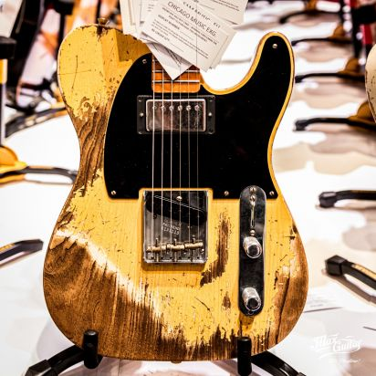Fender CS 1951 Telecaster, Aged Nocaster Blonde, Super Heavy Relic