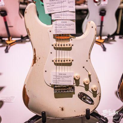 Fender CS 1959 Stratocaster, Aged Olympic White, Heavy Relic