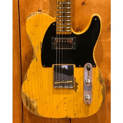 Fender CS 52 Telecaster Heavy Relic Humbucker BSB