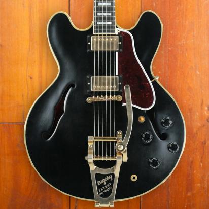 Gibson Custom 1959 ES-355 'Keef' Ebony, Bigsby, Heavily Aged Hardware