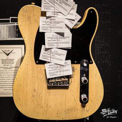 Fender CS Masterbuilt LTD 70th anniversary Broadcaster, Nocaster Blonde, Masterbuild by Dennis Galuszka