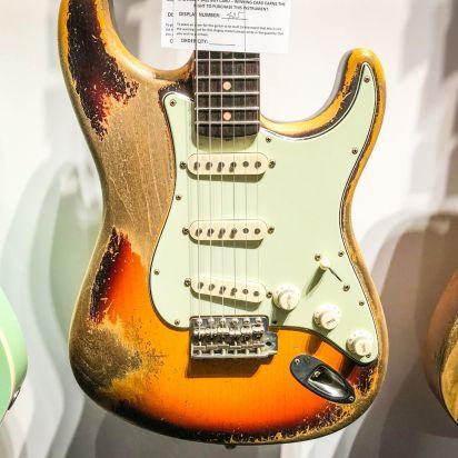 Fender CS Namm 1959 Strat Heavy Relic Faded 3 Tone Sunburst Dale Wilson Masterbuilt #405