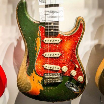 Fender CS Namm 1962 Strat Heavy relic Cadillac Green over 3 Tone Sunburst Dale Wilson Masterbuilt #412