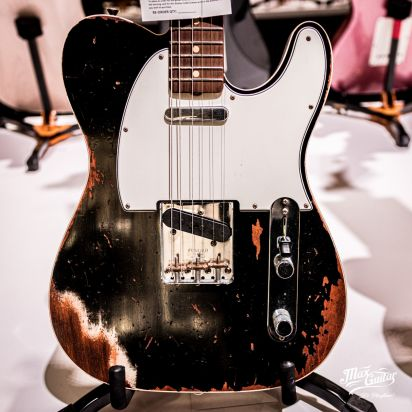 Fender CS Time Machine 1964 Telecaster, Aged Black, Heavy Relic