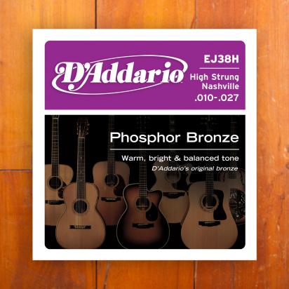 D'Addario EJ38H High Strung/Nashville Tuning .10-.27