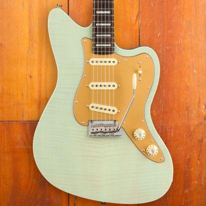 Fender Strat Jazz Deluxe RW Seafoam Green Transparant