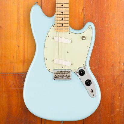 Fender Mustang, Maple Neck, Sonic Blue