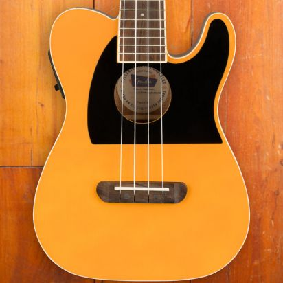 Fender Fullerton Tele Ukelele Walnut Fingerboard Butterscotch Blond