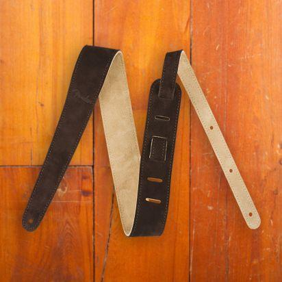 Fender 2' Suede Strap  Brown/Tan  Reversible