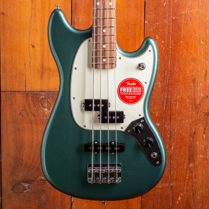 Fender LTD Mustang PJ Bass PF Sherwood Green Metallic