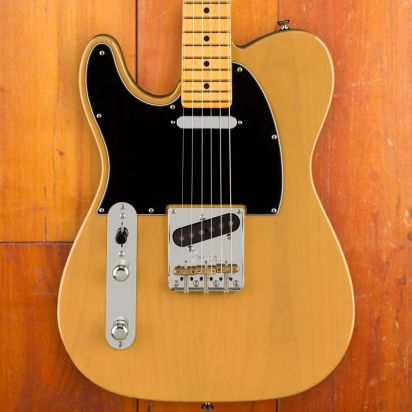 Fender American Professional II Telecaster, Lefty, Maple Neck, Butterscotch Blonde