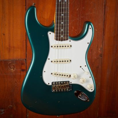 Fender CS 1965 Strat JRN Relic Sherwood Green metallic #109614