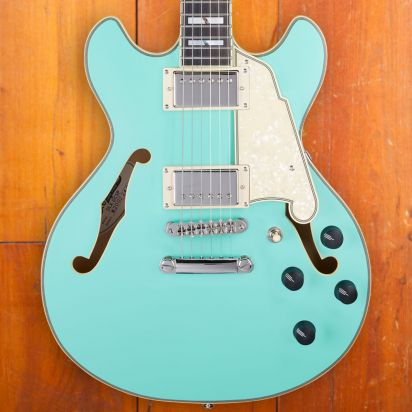D'Angelico LTD Deluxe Mini DC, Matte Surf Green