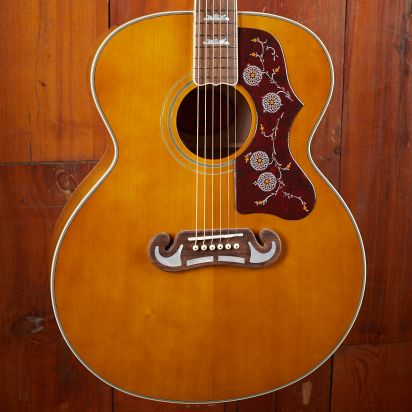 Epiphone J-200, Aged Natural Antique Gloss, All Solid Wood, Fishman Sonitone
