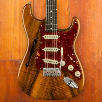 Fender CS Artisan Koa Thinline Stratocaster, Aged Natural
