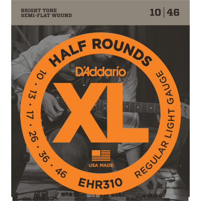 D'Addario EHR310, Half Round Wound, Light 10-46