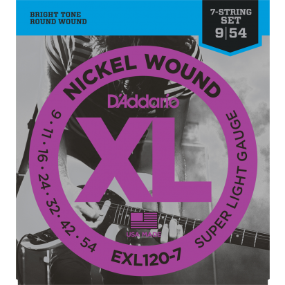 D'Addario EXL120-7, Super Light 09-54, 7 String