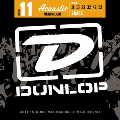 Dunlop DAB1152, 80/20 Bronze, Medium Light, 11-52