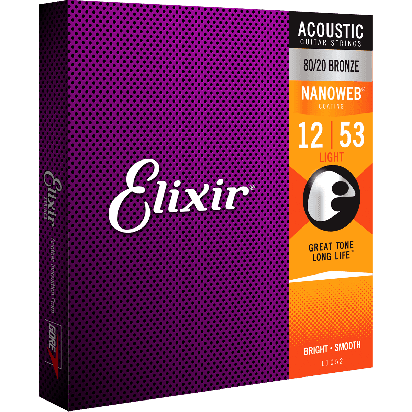 Elixir 012-053, Light, Nanoweb 80/20