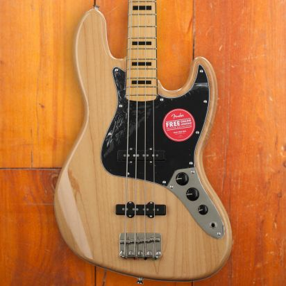 Squier Classic Vibe 1970s Jazz Bass, Maple Neck, Natural