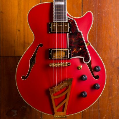 D'Angelico Deluxe SS, Matte Cherry