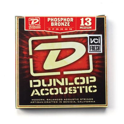 Dunlop Phosphor Bronze, Medium, 13-56