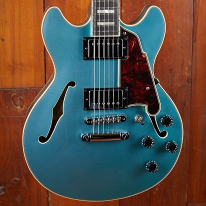 D'Angelico Premier Mini DC, Stopbar, Ocean Turquoise