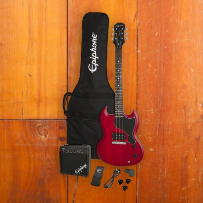 Epiphone SG Junior Player Pack Worn Cherry