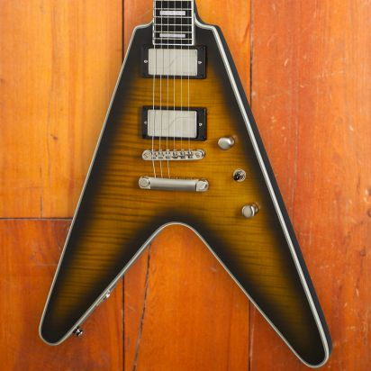 Epiphone Flying V Prophecy, Yellow Tiger Aged Gloss