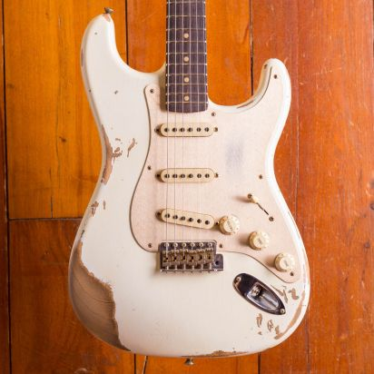 Fender CS NAMM LTD #33 - 1959 Stratocaster Aged Olympic White
