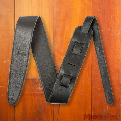 "Fender Artisan Crafted Leather Strap, 2.5"" Black"