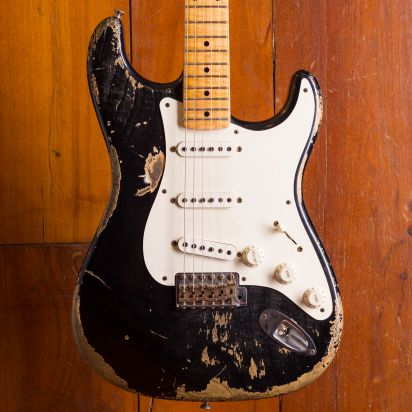 Fender CS 1955 Stratocaster Heavy Relic Black