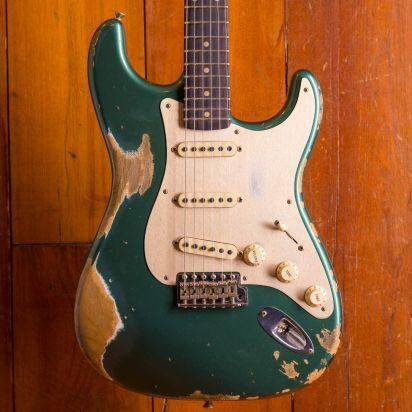 Fender CS NAMM LTD 1959 Stratocaster #051 Aged Sherwood Green Metallic