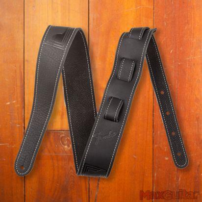 Fender Monogram Leather Strap, Black
