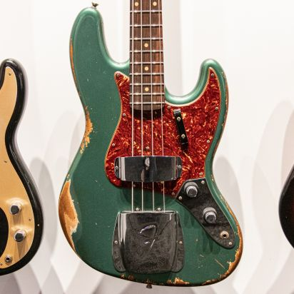 Fender CS 1960 Bass Heavy Relic Custom Built 2020 Collection in Aged Sherwood Green Metallic