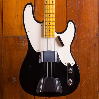 Fender CS 1951 Precision Bass Journeyman Relic Black Maple neck