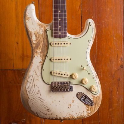 Fender CS LTD 1963 Stratocaster Super heavy Relic Superfaded aged Olympic white